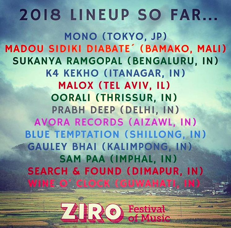 Rootsandleisure_Ziro Festival_2018_Artists2