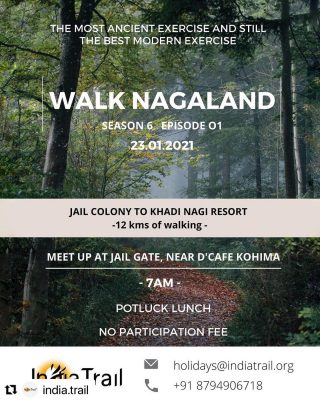 #WalkNagaland by @india.trail is back! Happening this Saturday - 23rd Jan, in #Kohima.   Folks it's time to take a break and start 2021 on a refreshing note before the month ends. If you happen to be in Kohima, do not miss this walk😊🍃  #natureheals #naturelovers #naturehealsthesoul #northeastindia #northeast_india #nagaland