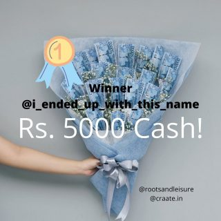 #Giveaway with @craate.in and @rootsandleisure   WINNERS👇🏻  🏆 Rs. 5000 cash goes to @i_ended_up_with_this_name Congratulations!👏  🏆 Flower box by @craate.in goes to @neime_wetsah Congratulations! 👏  🏆 Chocolate bouquet goes to @put_two Congratulations! 👏  Winners, please DM us your contact and address details.  Big Cheers to everyone who participated, here's wishing each one of you a special 2021!!🧡  ~~~ Special shoutout to @craate.in - our Giveaway partner for an amazing collab! Folks check out @craate.in - your most reliable partner for custom gifting for all Seasons, Occasions, and Reason💕  and to all our R&L folks, thanks for your continued support and cheer, we have much in store for 2021.. so stay tuned. #HappyNewYear! 🧡